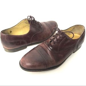 Cole Haan 10W Wine Cap Toe Lace Up Oxford shoes